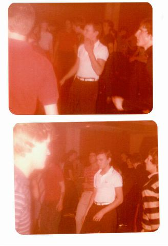 Richard at Wigan Casino age 18 (white shirt)